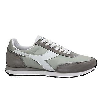 Diadora Heritage Koala Grey Leather Low Lace Up Mens Running Trainers C7576