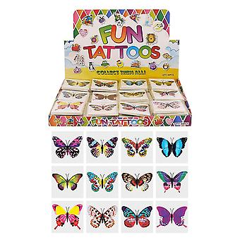 Henbrandt 24 x butterfly temporary tattoos children's birthday loot party bag filler
