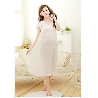 Femme Dentelle Sexy Nightdress, Plus Size Bathrobe Grande Taille Sleepwear Nightgown
