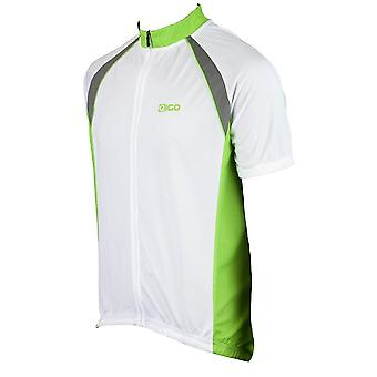 Eigo Logic Mens Short Sleeve Cycling Jersey Green / White
