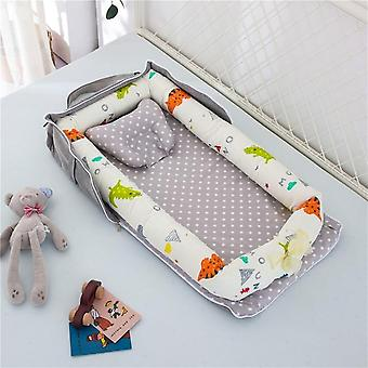 Portable Baby Nest Bed Travel Bed Infant Cotton Cradle Crib Bassinet