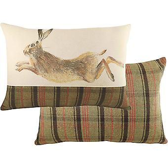 Evans Lichfield Hunter Jumping Hare Cushion Cover