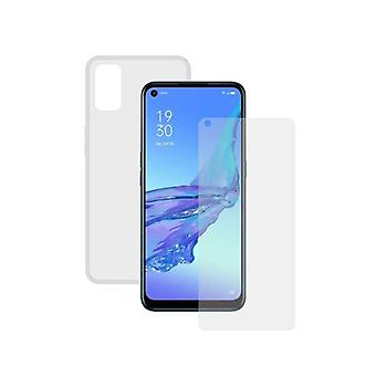 Screenprotector in gehard glas voor + Mobiele case A53S
