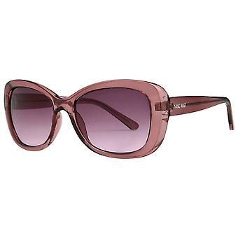 Nueve gafas de sol rectangulares suaves del oeste - púrpura de cristal