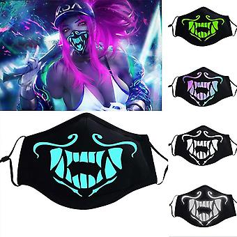 S8- Game Kda, Assassin Face Mask, Night Lights, Cosplay Costumes Prop