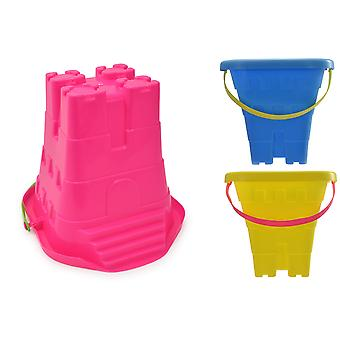 """8""""/20cm Square Sand Castle Beach Bucket With Steps"""