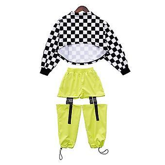 Kids Hip Hop Dancing Clothes Jazz Dance Costumes Long Sleeve Street Dance