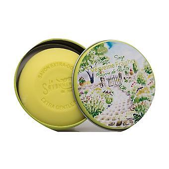 Soap Round metal box Fresh verbena 100 g