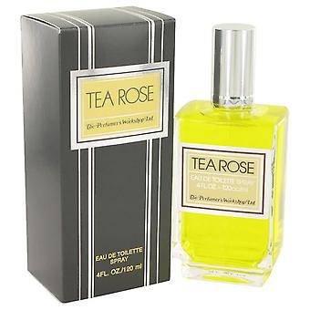 Tea Rose Eau De Toilette Spray By Perfumers Workshop 4 oz Eau De Toilette Spray