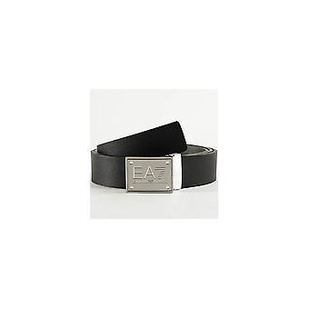 Emporio Armani EA7 Серебряная пряжка Черный/серый Реверсивный пояс