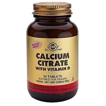 Solgar kalsium sitraatti D3-vitamiinin tableteilla