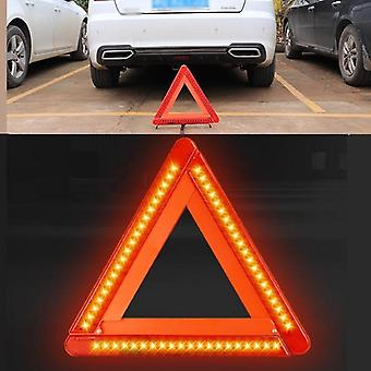 Foldable  Led Warning Triangle Safety Emergency Reflective Stop Hazard Red Sign