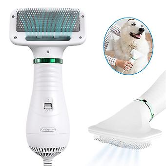 2-in-1 Portable Dog Dryer And Comb Brush Pet Grooming Low Noise