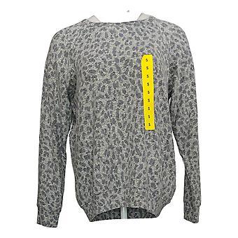 Buffalo Women's Sweater Animal Print Cozy Top Gray