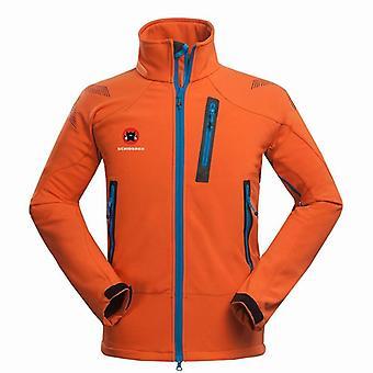 Winter Outdoor Male Soft Shell Windbreaker Jacket, Waterproof Thermal Mountain