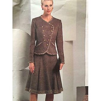 Vogue Coser Patrón 2870 Misses Chaquetas Faldas Tamaño 18-22 UC