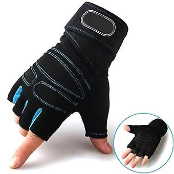 Half Finger Gym Gloves, Sports Exercise Weight Lifting Gloves