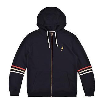 Lightning bolt places zip hoodie