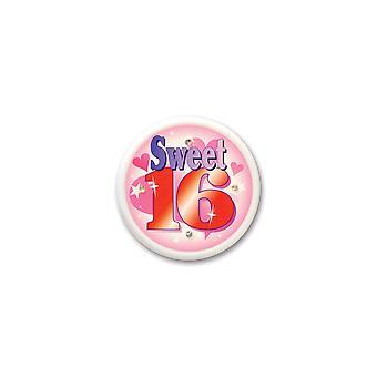 Süße sechzehn blinkende Taste (Pack von 6)