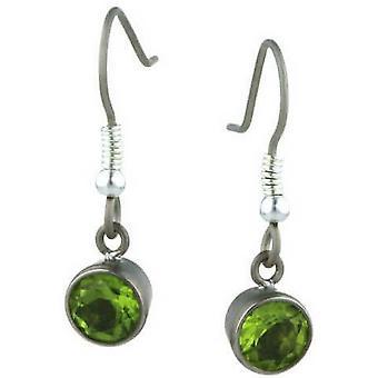Ti2 Titan große Edelstein Tropfen Ohrringe - grün