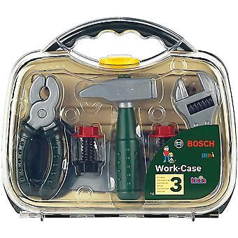 HanFei 8465 BOSCH Werkzeugkoffer, mittel,transparent, Spielzeug