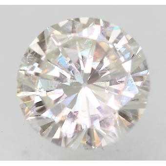 Zertifiziert 0.69 Karat F VS2 Runde Brillant Enhanced Natural Diamond 5.81mm 3VG