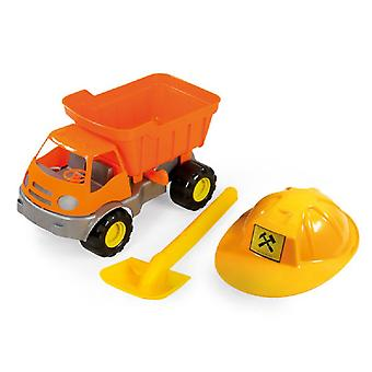 Camión de juguete con casco y pala 36 x 24 x 21 cm