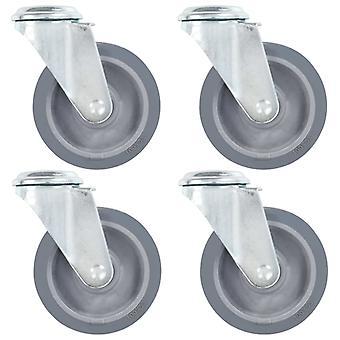vidaXL roulettes avec trou de boulon 4 pcs 100 mm
