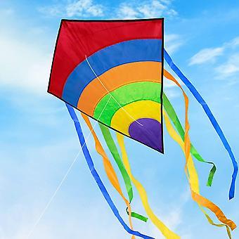 FengChun Groer Drachen fr Kinder und Erwachsene, Easy Flyer Bunte Drachen, Ideal fr Anfnger