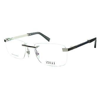 ZILLI glasögon Ram Titanacetat Silver Blue Frankrike Tillverkad ZI 60034 C08