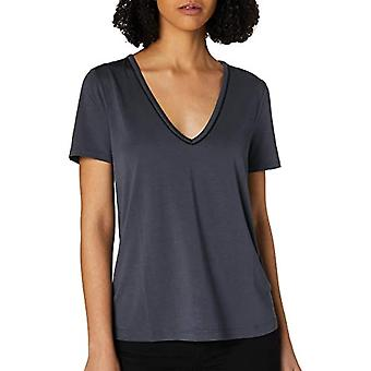 Scotch & Soda Basic Jersey Tee with Piping Detail T-Shirt, 4169 Smoke Blue, M Woman