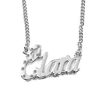KLキグクララ - 女性のネックレスは、名前、ファッショナブルな宝石、Refのための贈り物でカスタマイズ可能な18カラットのホワイトゴールドでメッキ。4963303142517