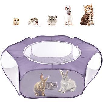 Kleintiere Freigehege, Wasserdicht Faltbar Kaninchen Freilaufgehege mit Atmungsaktiv Netz und