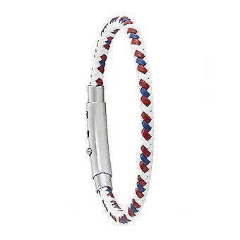 Bracelet Homme Jourdan JH150027B - DIXON - Cuir blanc