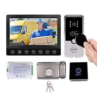 Video Intercom With Lock Wired Entry Doorphone Night Vision Doorbell Camera