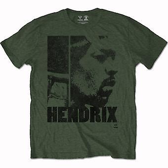 Jimi Hendrix Let Me Live Men's X-Large T-Shirt - Green