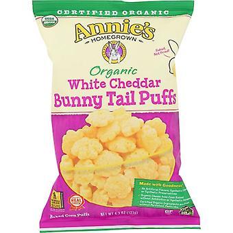 Annie's Homegrown Puffs Bunny Wht Cheddar, Koffer van 12 X 4.3 Oz