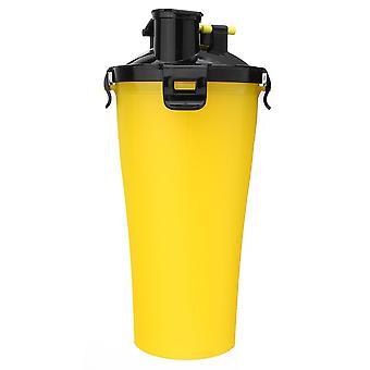Przenośny pieścić podróżować woda butelka żywność pojemnik składany żywność puchar 2 w 1