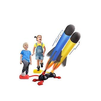 Kids Toys Dueling Rocket Launchers Shoots Up To 100 Feet,foot Launcher Stand