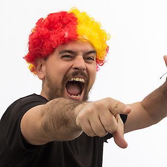 Spanish Flag Afro Wig