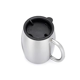 14oz Bpa Free Double Wall Stainless Steel Milk&tea Drinking Beer Cup Creative (silver)