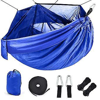 أرجوحة التخييم المحمولة في الهواء الطلق مع ناموسية عالية القوة المظلة النسيج أرجوحة التخييم