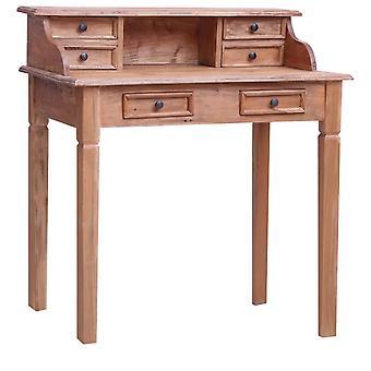 vidaXL skrivebord med skuffer 90x50x101 cm genvundet trætørstof