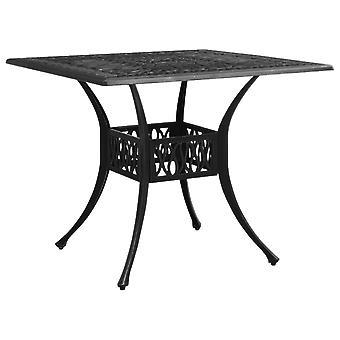 vidaXL Garden Table Black 90x90x73 cm Cast Aluminium