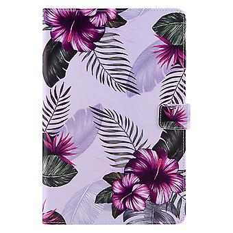 Case For Samsung Galaxy Tab A7 10.4 2020 Cover Auto Sleep/wake Rotating Multi-angle Viewing Folio Stand - Purple Flower