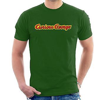 Curiosa t-shirt uomo con logo George Classic