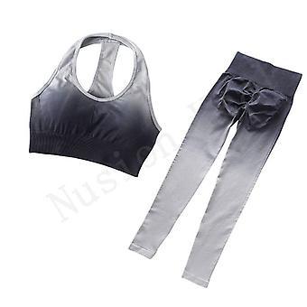 Yoga set gym fitness clothing workout leggings sportswear for women
