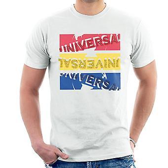 Universella bilder Röd Gul Blå Logotyp Herr T-Shirt
