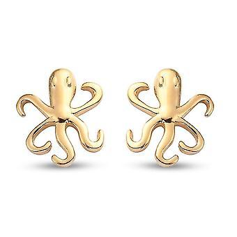 TJC Octopus Ohrringe für Frauen in vergoldetem Silber