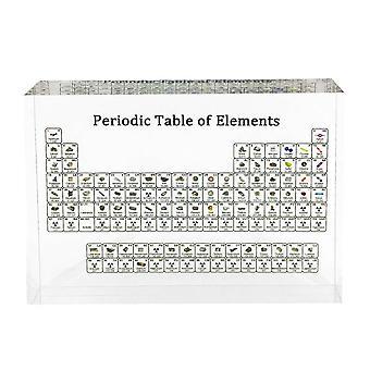 Affichage d'éléments chimiques Décoration intérieure Acrylique Tableau périodique Affichage avec de vrais éléments Enfants Enseignant cadeaux d'anniversaire de jour d'école